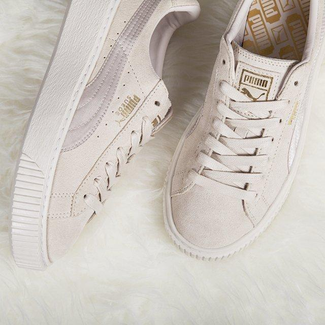 save off 90ead 7c570 Puma Suede Summer Satin Platform 'Whisper White'