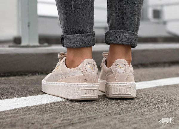 save off 97ab2 1caf8 Puma Suede Summer Satin Platform 'Whisper White'