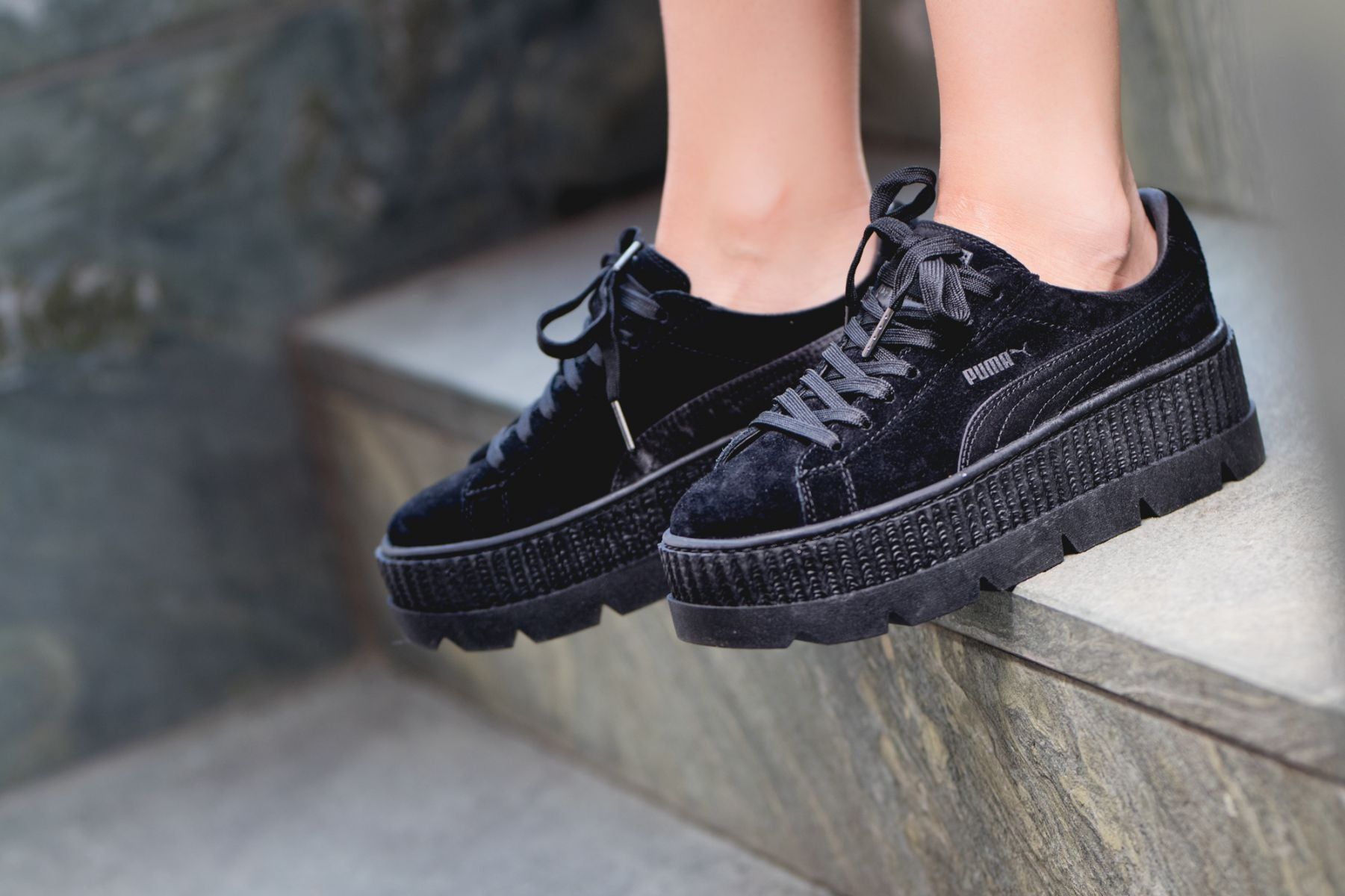 best service d51e3 c76f7 Rihanna x Puma Fenty Cleated Creeper 'Puma Black'