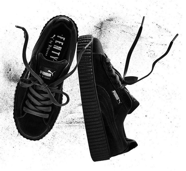 best sneakers fc0b2 260c8 PUMA by Rihanna Velvet Creeper 'Black'