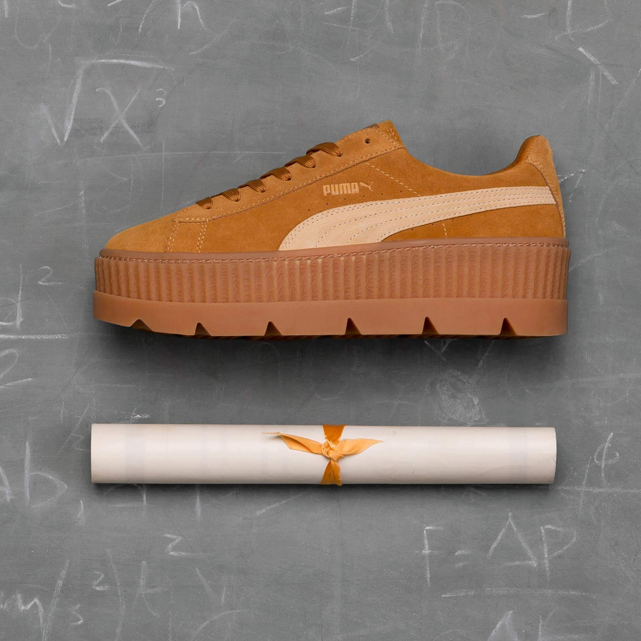 online store 4ad2a 5eed1 Rihanna x Puma Fenty Cleated Creeper 'Golden Brown-Lark'