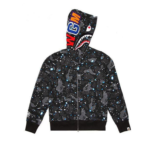 "A Bathing Ape Jacket "" Space Camo Shark Army Miltary"" Full Zip"