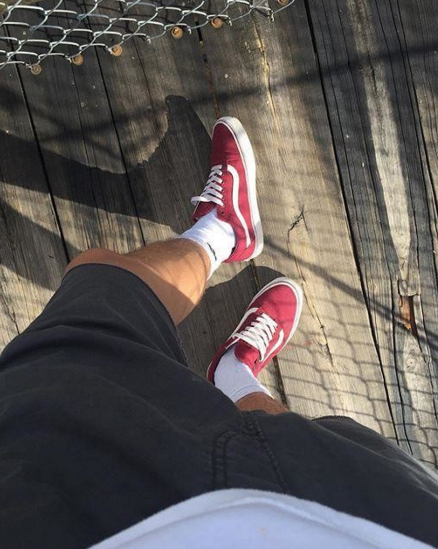 VANS Old Skool Classic Brick RedTrue White