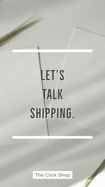 Let's talk Shipping