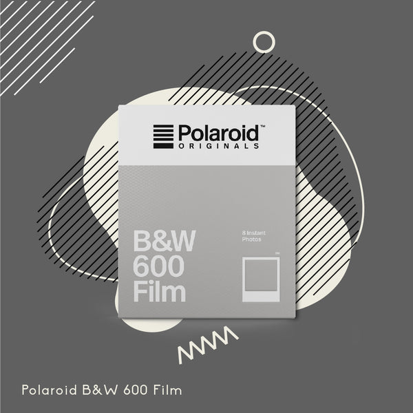 Polaroid Originals 600 B&W Film (White Frame)