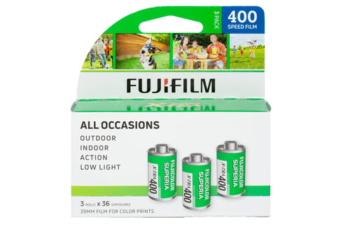 FUJIFILM Fujicolor Superia X-TRA 400 Color Negative 135-36 Film (PACK OF 3)