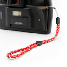Load image into Gallery viewer, Paracord Camera Wrist Strap (Red)