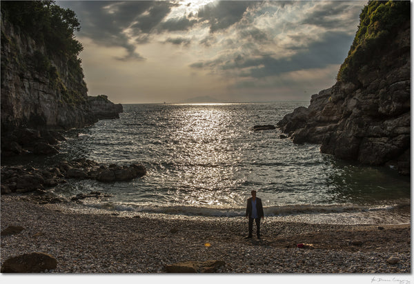 Man on Beach / Amalfi Italy / Archival Pigment Print