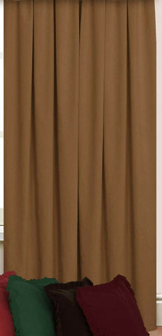 "Camel Beige Door Curtain In A Quality Plain Dyed Velour - 66""x84"" (168 x 213cm) - Kellyuk"