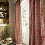 Modern Abstract Ring Top Eyelet Pair Of Curtains In Grey, Natural Or Terracotta - Kellyuk
