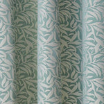Willow Jacquard Ring Top / Eyelet Fully Lined Curtains With All Over Leaf Design - Kellyuk