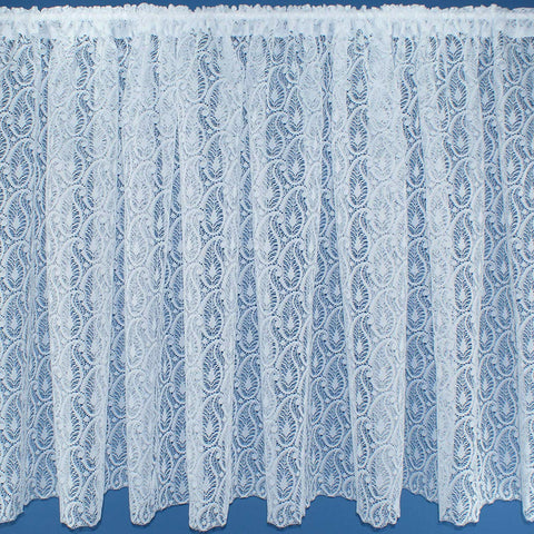 Ornamental Paisley Design White Lace Net Curtains - SOLD BY THE METRE - 11 Drops - Kellyuk
