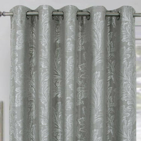 Annabelle Thermal Blackout Ring Top Eyelet Curtains In Green, Grey, Navy, Ochre - Kellyuk