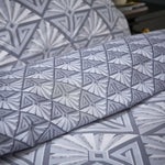 Catherine Lansfield Art Deco Grey Reversible Abstract Geometric Duvet Cover Set - Kellyuk