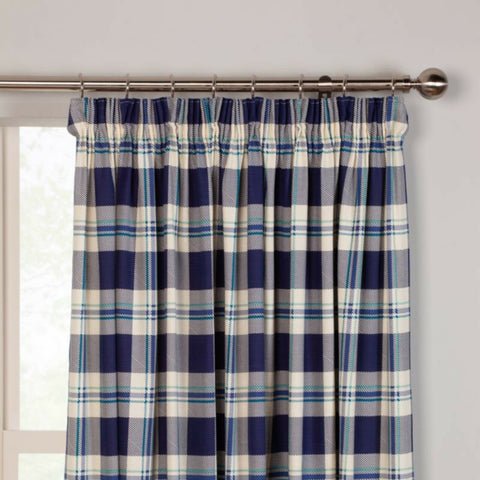 Spotted Or Checked Tartan 100% Cotton Kitchen Curtains With Optional Accessories - Kellyuk