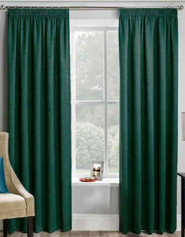 VELOUR MONTREAL LUXURY SOFT HANDLE LINED TAPE TOP PAIR OF NEW CURTAINS - Kellyuk