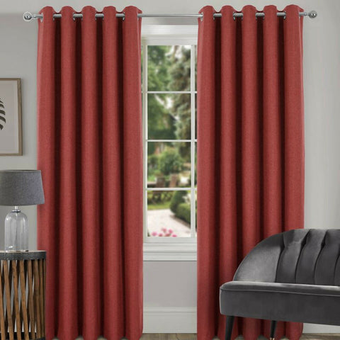 BLOCKOUT THERMAL MIAMI GEOMETRIC PAIR OF RING TOP / EYELET MODERN PRINT CURTAINS - Kellyuk