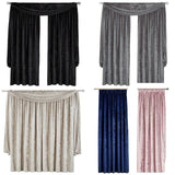 Scarpa Crushed Velvet Tape Top Pair Of Curtains With Optional Beaded Accessories - Kellyuk