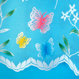 "Butterfly White Multi Cafe Net Sold By The Metre. In 12"", 18"" & 24"" Drop - Kellyuk"