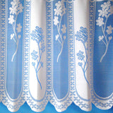 "Quality Floral Panel White Cafe Net Sold By The Metre. In 12"", 18"" & 24"" Drop - Kellyuk"