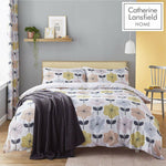 Retro Floral Pastel Duvet Cover Set With Pillowcase(s) By Catherine Lansfield - Kellyuk