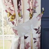 Dark Wonder Bold Floral Print Lined Tape Top Modern Curtains In Blue Or Pink - Kellyuk