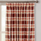 Chelsea Checked Tartan 100% Cotton Kitchen Curtains With Optional Accessories - Kellyuk