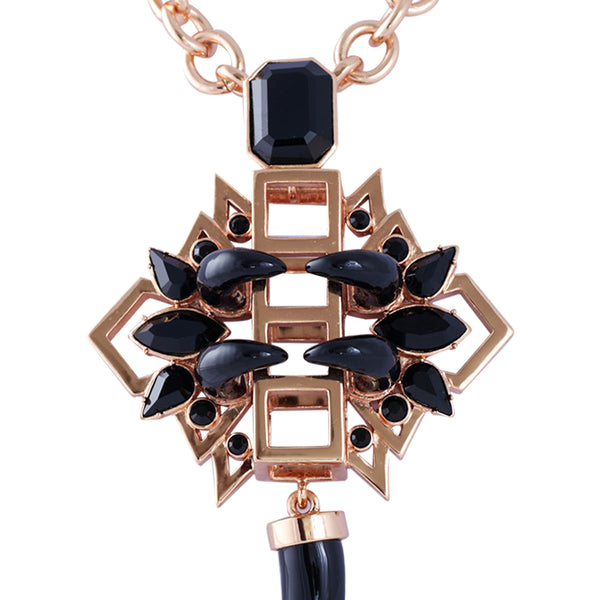 Gatsby Glamour Necklace in rose gold - Akollekt - 2