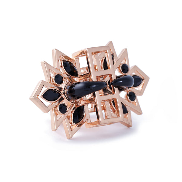 Gatsby Glamour Ring in rose gold - Akollekt - 2