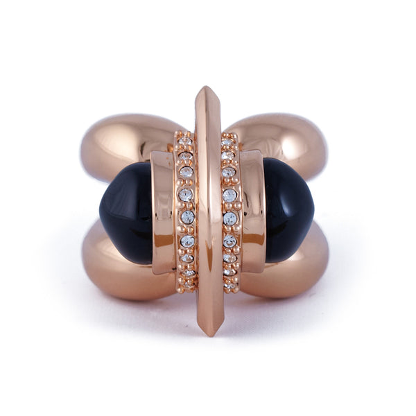 Jazz Glitz Black Bullet Ring - Akollekt - 2