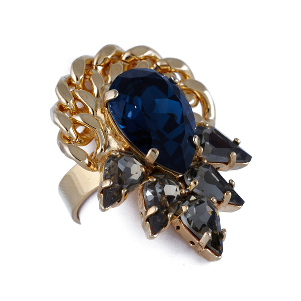 Montana Crystal Ring In Gold - Akollekt - 2