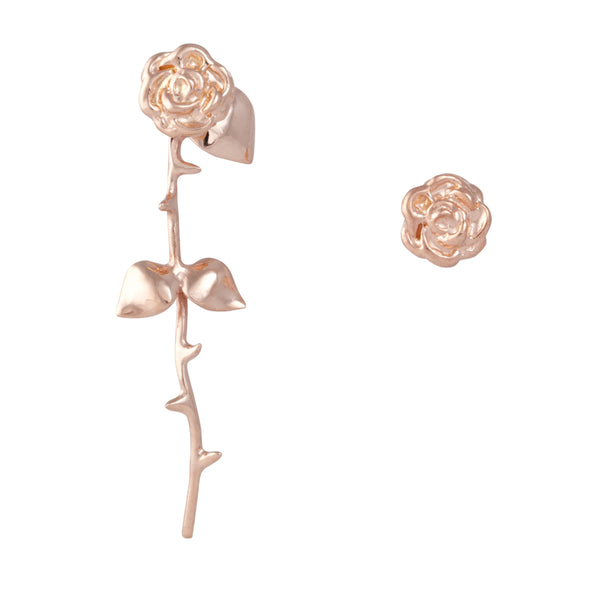 Marina's Roses Earrings in Rose Golden - Akollekt