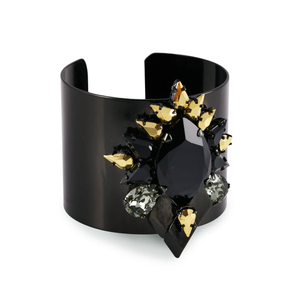 Oversized Cuff In Black - Akollekt - 2