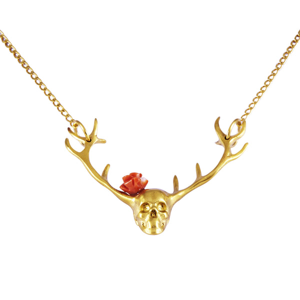Hunting Man And Rose Necklace - Akollekt - 1