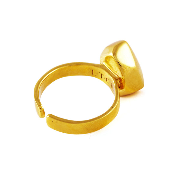 Casa Solid Ring In Gold - Akollekt - 2