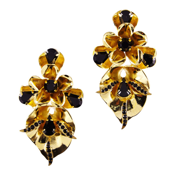Gold Bouquet Earrings - Akollekt