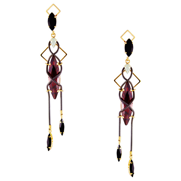 Damon long earrings - Akollekt