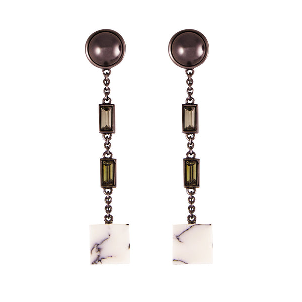 Robot 11 Black pearl earrings - Akollekt