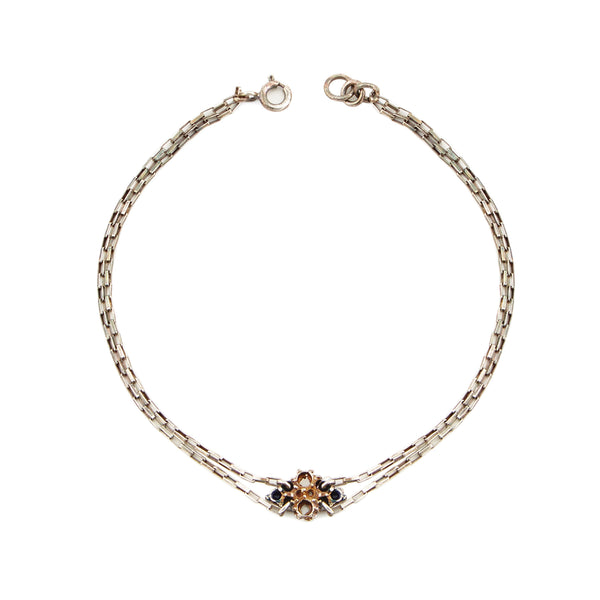 Bow diamond anklet - Akollekt - 1