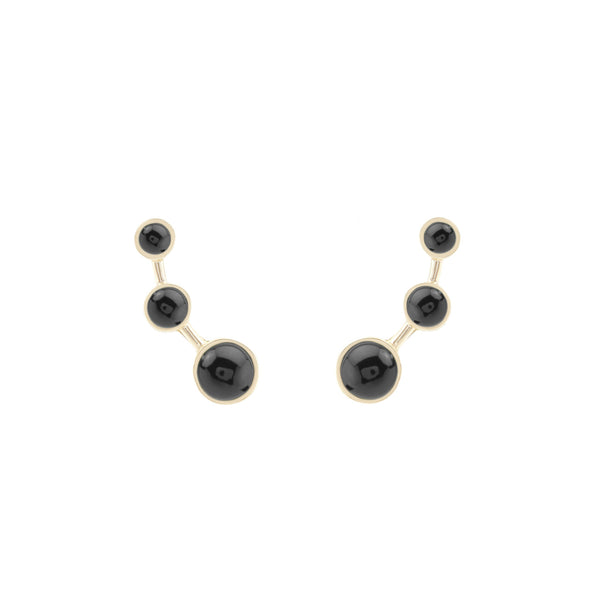 Lava Black Onyx Earrings - Akollekt - 1