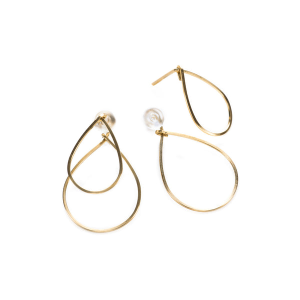 Double tear wire earrings