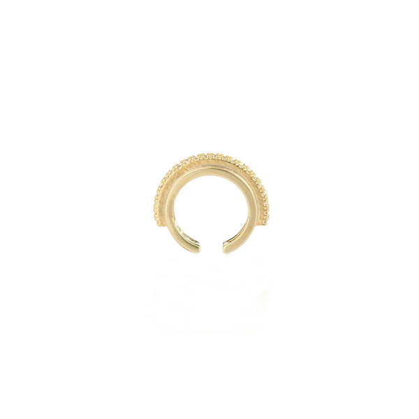 Fitzgerald Circle ear cuff in gold