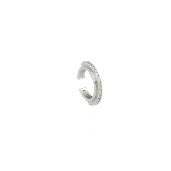Fitzgerald Circle Ear Cuff in silver