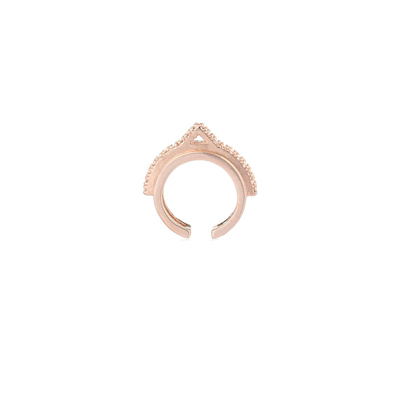Fitzgerald circle 2.0 Ear Cuff in Rose Gold