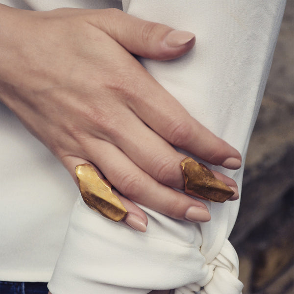 Upper Finger Gold ring - Akollekt - 3