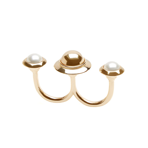 Astro Double ring in gold - Akollekt - 1