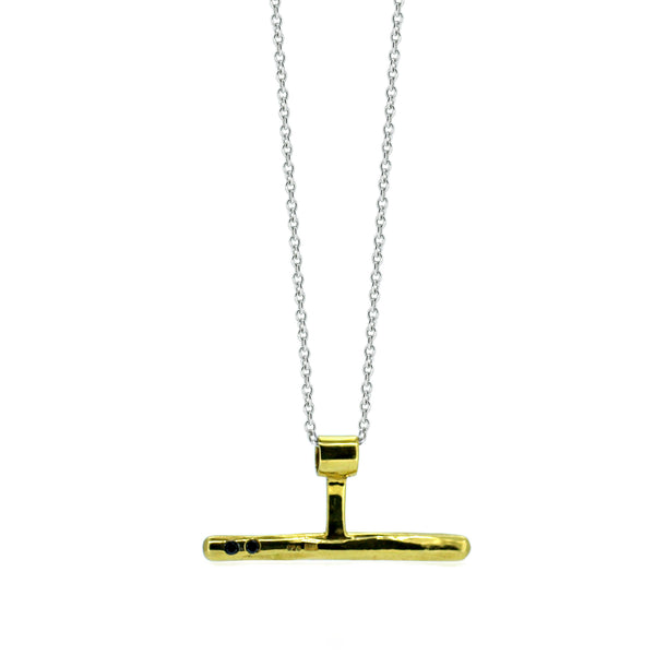 Black Diamond Necklace Gold - Akollekt - 1