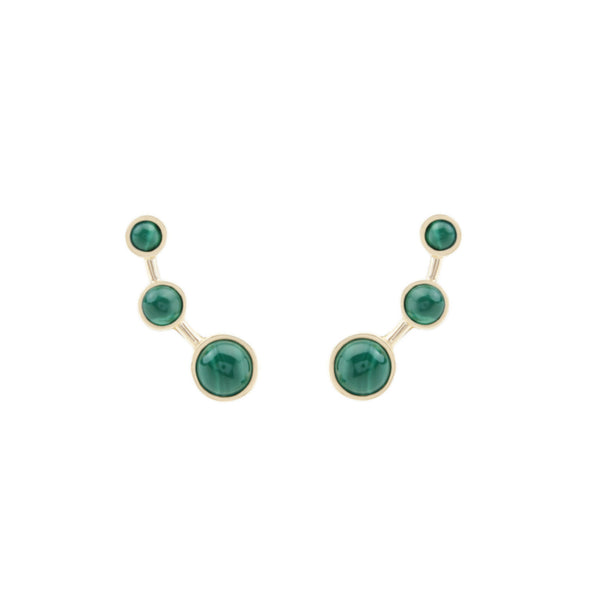 Lava Malachite Earrings - Akollekt
