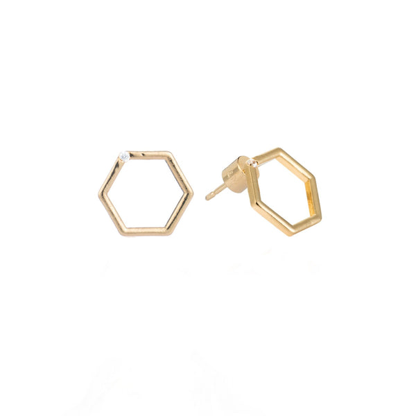Hexagon small studs
