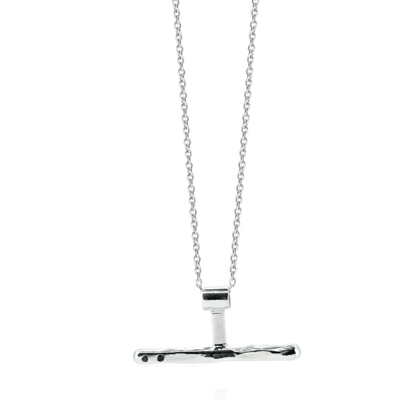 Black Diamond Necklace Silver - Akollekt - 1